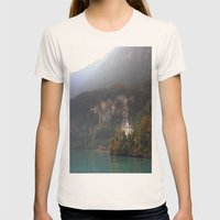 House On The Lake Womens Fitted Tee Natural SMALL