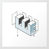The Exploded Alphabet / E Art Print