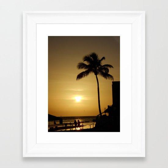 Anniversary Sunset Framed Art Print