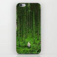 Green Wood iPhone & iPod Skin