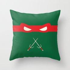 Red Ninja Turtles Raphael Throw Pillow