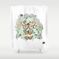 H U S H Shower Curtain