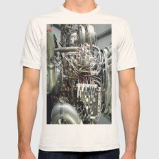 SPACE SHUTTLE ENGINE Mens Fitted Tee Natural SMALL