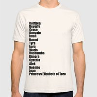 Black Fashion Mens Fitted Tee Natural SMALL