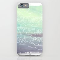 iPhone & iPod Case featuring Sunshine, Happiness and Love by kcdesign