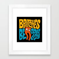 Britches Be Crazy Framed Art Print