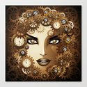 Steampunk Girl Portrait  Canvas Print