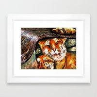 PERSIAN TIGER Framed Art Print