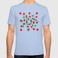 5 Colors Composition (#2) Mens Fitted Tee Tri-Blue SMALL
