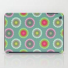 transparent floral pattern 3 iPad Case
