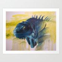 Green Iguana (Iguana Igu… Art Print