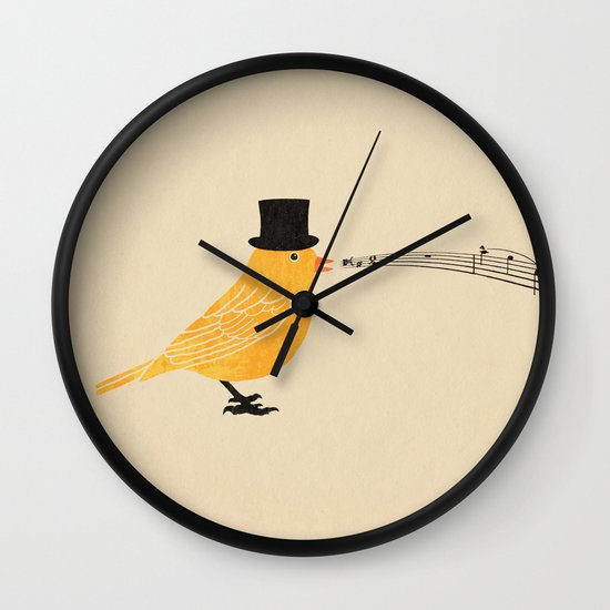 Classical Canary  Wall Clock