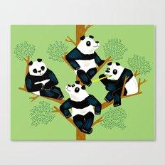 The Pondering Pandas Canvas Print