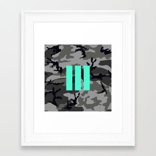 Military - Camouflage Framed Art Print