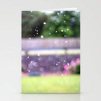 Raindrops.  Stationery Cards