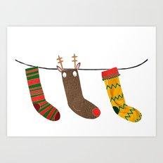 Christmas socks Art Print