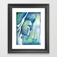 She's Turning Blue Framed Art Print