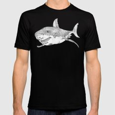 Shark Prank SMALL Mens Fitted Tee Black