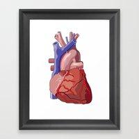 Vector Heart Framed Art Print