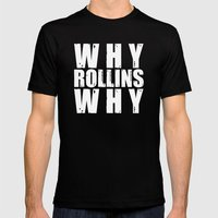 Why Rollins Why Mens Fitted Tee Black SMALL