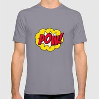 Pow! - 01 - Poster Mens Fitted Tee Slate SMALL