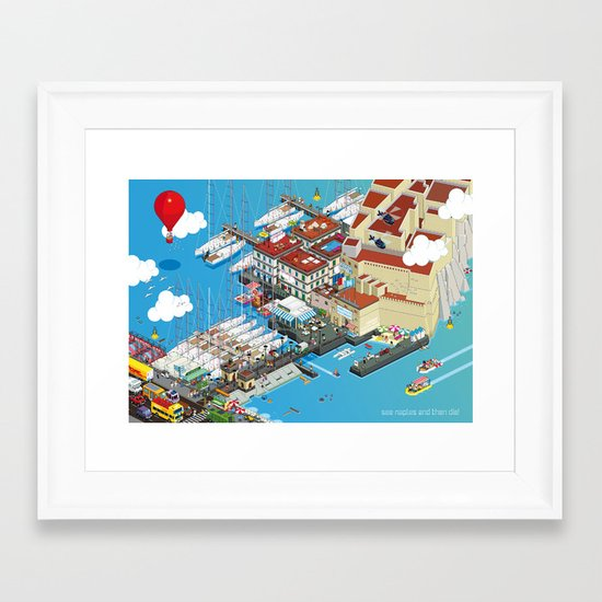 see Naples and then die! Framed Art Print