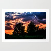 Dry Day Sunset Art Print
