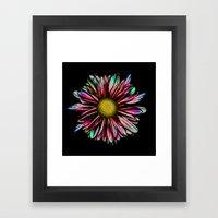 Digital Daisy Framed Art Print