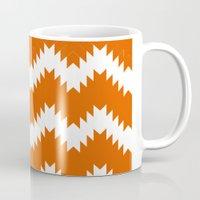 Orange pattern Mug