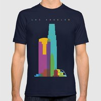 Shapes of Los Angeles accurate to scale Mens Fitted Tee Navy SMALL