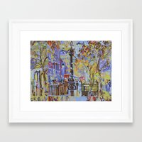 paint by numbers pattern Framed Art Print