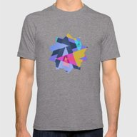 Triangle Round Up Mens Fitted Tee Tri-Grey SMALL