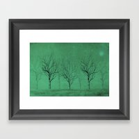 Winter Trees In The Mist Framed Art Print