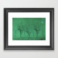 Winter Trees In The Mist Framed Art Print