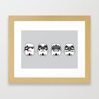 Stormkisstrooper Framed Art Print