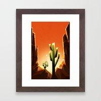 A prickly pair in love Framed Art Print