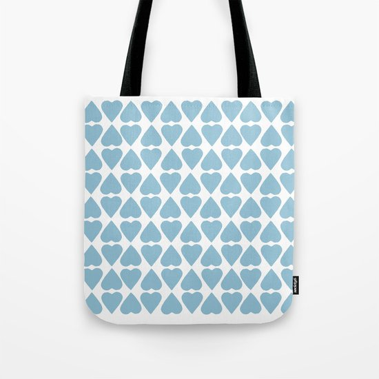 Diamond Hearts Repeat Blue Tote Bag