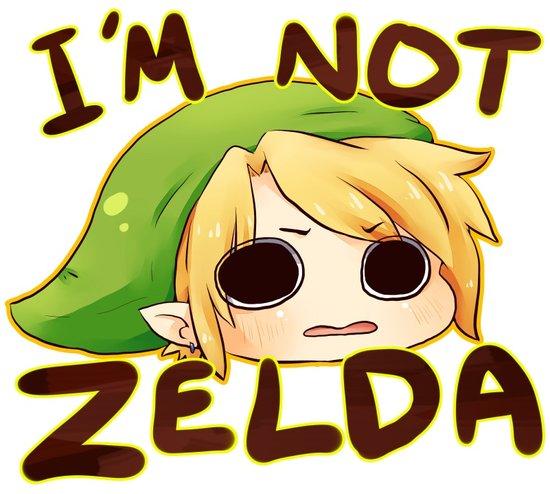 Link is not Zelda Art Print