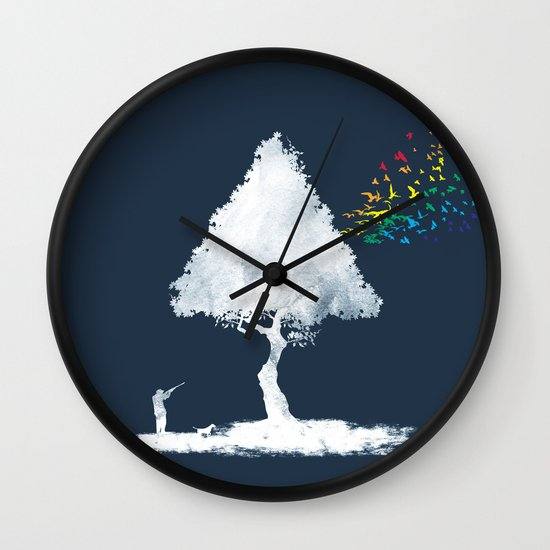 colourful hunting Wall Clock