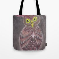 Stylized Owl Tote Bag