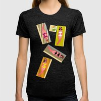 Summer Womens Fitted Tee Tri-Black SMALL