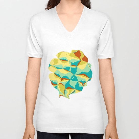 Imperfect Tiles V-neck T-shirt