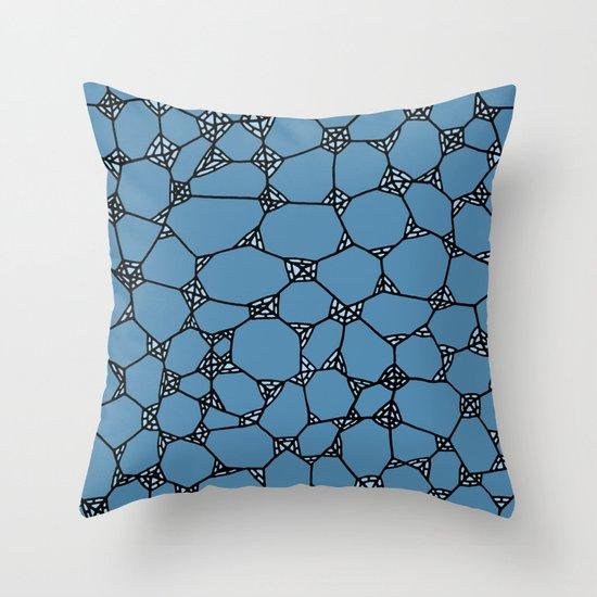Yzor pattern 006 kitai blue Throw Pillow