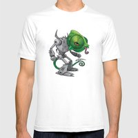 Chameleozoid Mens Fitted Tee White SMALL