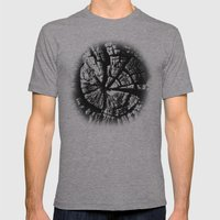 Texture Tree Rings Tree slice Old Tree photograph Natural beauty Mens Fitted Tee Athletic Grey SMALL
