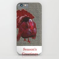 iPhone & iPod Case featuring Season's Greetings 02 by Axiomatic Art