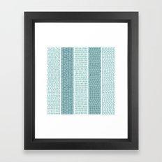 Blue & White Watercolor Pattern Framed Art Print