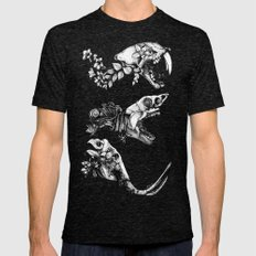 Prehistoric Bloom  Mens Fitted Tee Tri-Black SMALL