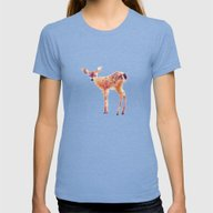 Fawn Womens Fitted Tee Tri-Blue SMALL