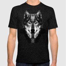 The Black Forrest Wolf Mens Fitted Tee Tri-Black SMALL